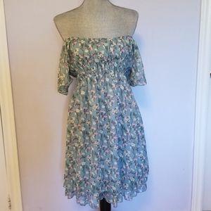 Off Shoulder Floral Tea Party Dress